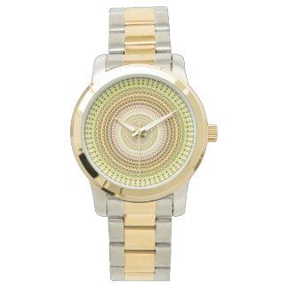Guld- Kaleidoscopechicklocka Armbandsur