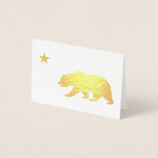 Guld- Kalifornien jul Folierat Kort