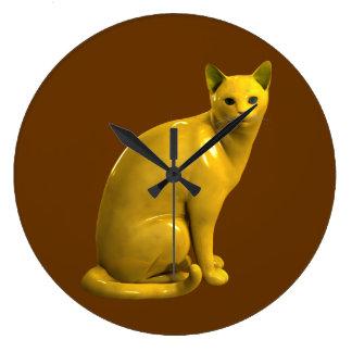 Guld- katt stor klocka
