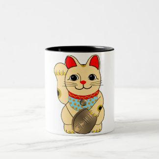Guld- katt Två-Tonad mugg