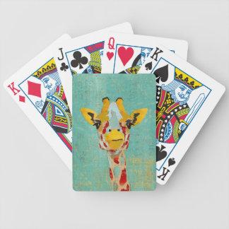 Guld- kika giraffkortdäck spelkort