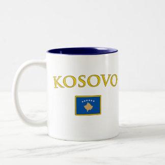 Guld- Kosovo Två-Tonad Mugg