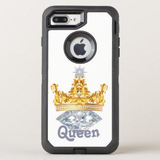 Guld- krona för drottning & diamanter, Otterbox OtterBox Defender iPhone 7 Plus Skal