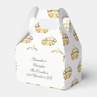 Guld- krona på beställnings- färgbröllop presentaskar