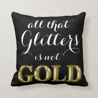 Guld- kudder sidtrycket för glitter 2 kudde