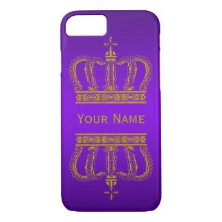 Guld- kunglig krona + din backgr. & text