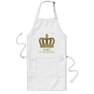 Guld- kunglig krona II + din backgr. & idéer Långt Förkläde