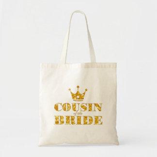 Guld- kusin för glitter av bruden tygkasse