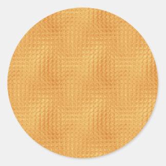 Guld- kvarter runt klistermärke