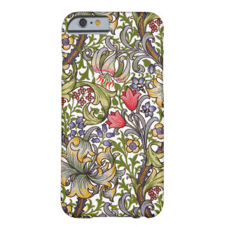Guld- liljavintageblommönster William Morris Barely There iPhone 6 Fodral