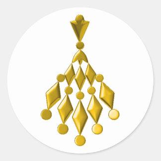 Guld- ljuskrona runt klistermärke