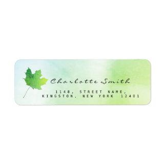 Guld- lönnlövgrönt Mint grönt OSAetiketter Returadress Etikett