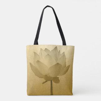 Guld- lotusblomma tygkasse