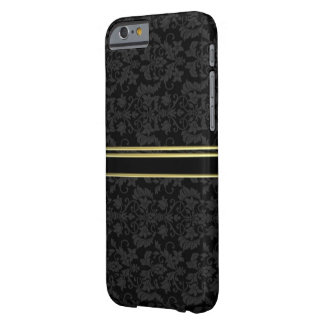 GULD- Luxe DAMASTAST FODRAL för stil IPHONE 6 Barely There iPhone 6 Fodral