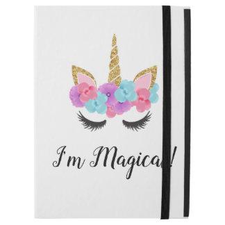 """Guld- Magical Unicornflickor för blommor iPad Pro 12.9"""" Skal"""