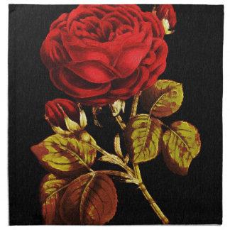 Guld- målat rött steg tygservett
