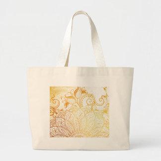 Guld- Mandala - borsta Jumbo Tygkasse