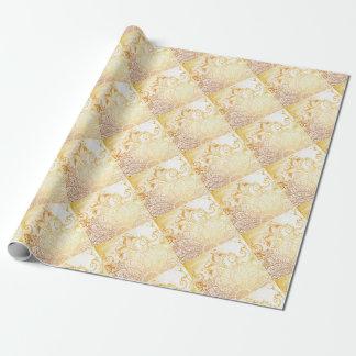 Guld- Mandala - borsta Presentpapper