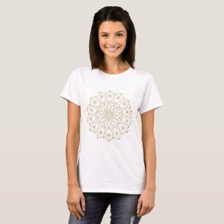 Guld- mandala t-shirt