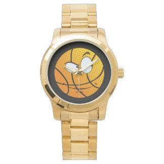 Guld- Manly man Baller Emoji Armbandsur