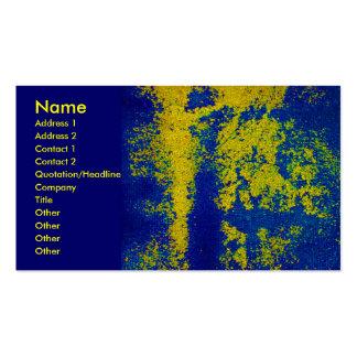 Guld- märkes- visitkort för blått
