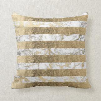 Guld- marmorrandar för elegant sofistikerad faux prydnadskuddar