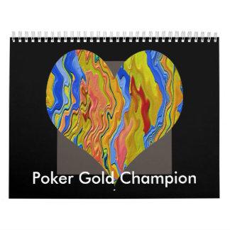 Guld- mästare för poker kalender