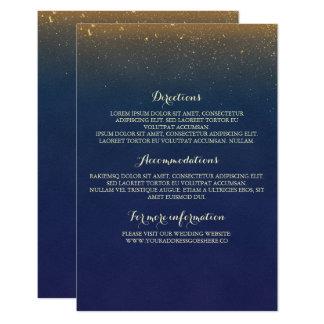 Guld- mellanlägg för bröllop för 8,9 x 12,7 cm inbjudningskort