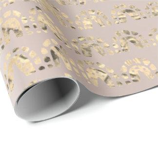Guld- mer foxier orientalisk indisk metallisk presentpapper