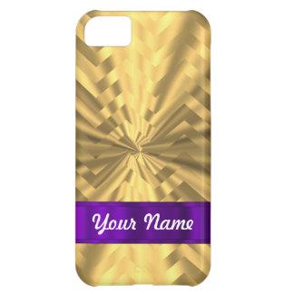 Guld- metallisk looksparre iPhone 5C fodral