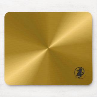 Guld- metalliskt med muslogotypgelen Mousepad Musmattor