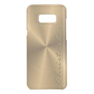 Guld- metalliskt radiellt för personligrostfritt uncommon samsung s8 plus skal
