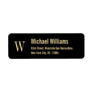 Guld- modern returadressetikett för beställnings- returadress etikett