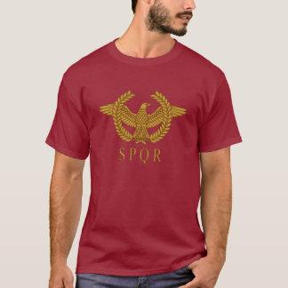 Guld- mörk T-tröja för SPQR-örnlagrar T-shirt