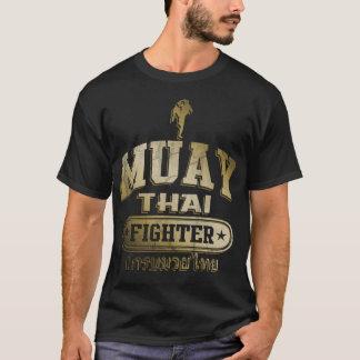 Guld- Muay thailändsk kämpe T-shirt
