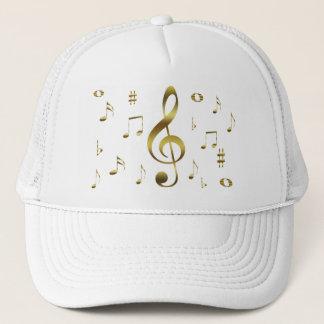 Guld- musik noterhatt keps