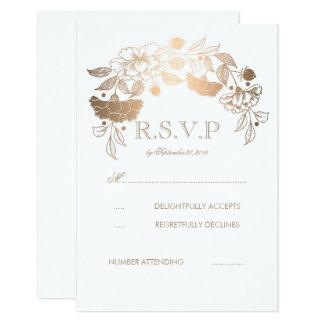 Guld- och för vitpionlagrar bröllop OSAkort 8,9 X 12,7 Cm Inbjudningskort