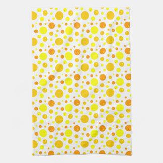 Guld- och gultpolka dots kökshandduk