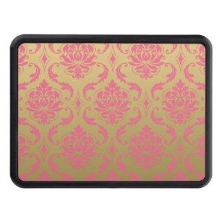 Guld- och rosa klassikerdamast skydd för dragkrok