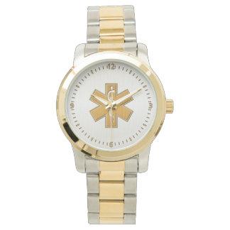 Guld och silver för sjukvårdare EMT EMS Armbandsur