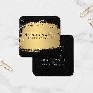 Guld och svart för elegant Faux metalliskt Fyrkantigt Visitkort