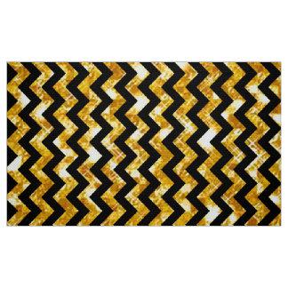 Guld- och svart sparre för glitter tyg