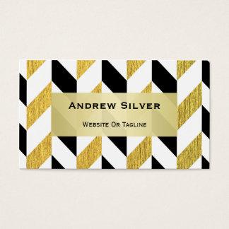 Guld- och svart sparremönster visitkort