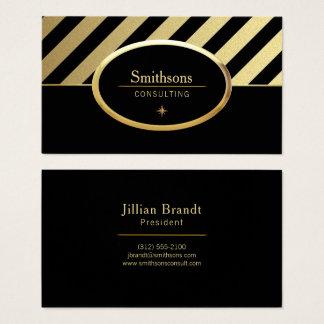 guld- och svartkonsulentvisitkort visitkort