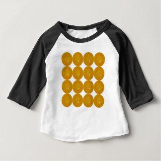 Guld och vit cirklar tee shirt