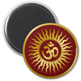 Guld- Om Magnet Rund 5.7 Cm