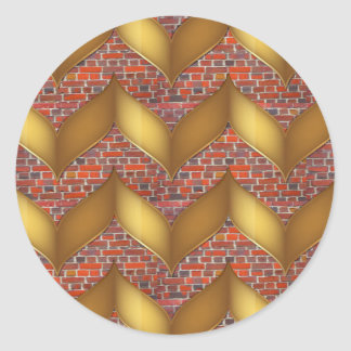 Guld- omkullkasta på färgrika gåvor för poder för runt klistermärke