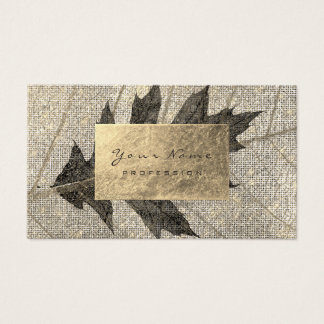 Guld- omkullkasta stads- organisk botanisk svart visitkort
