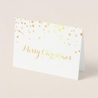 Guld omkullkastar god julkortet folierat kort