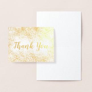 Guld omkullkastar konfettitack folierat kort